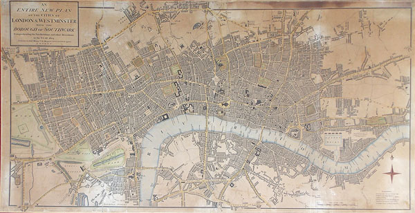 Antique map of London for sale
