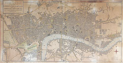 London antique city plan by Mogg for sale