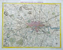 London antique map by Moule