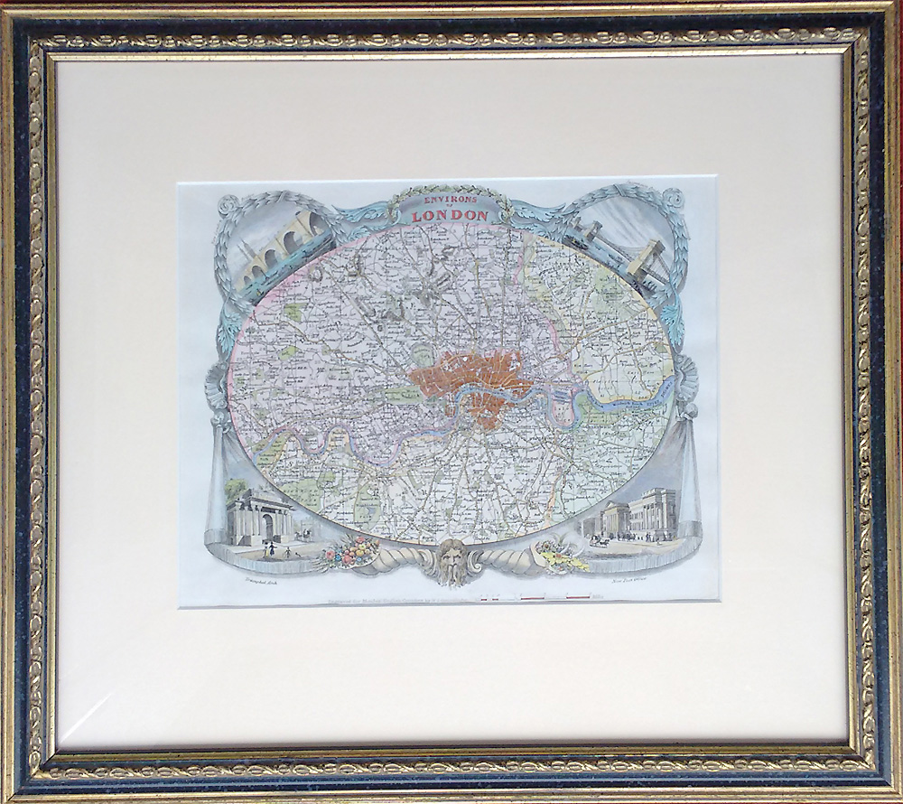 London map by Moule and Schmollinger