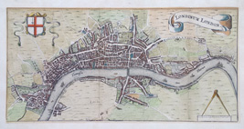 London 17th century map bu Hermann