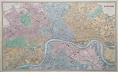 19th century map of London for Sale