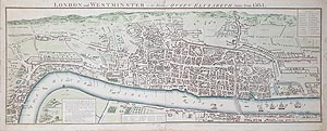 antique maps of London map for sale