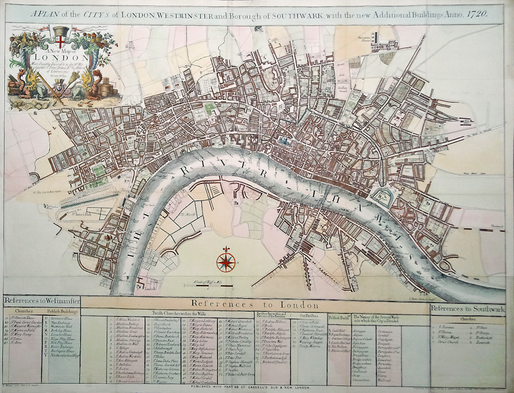 19th century map of London