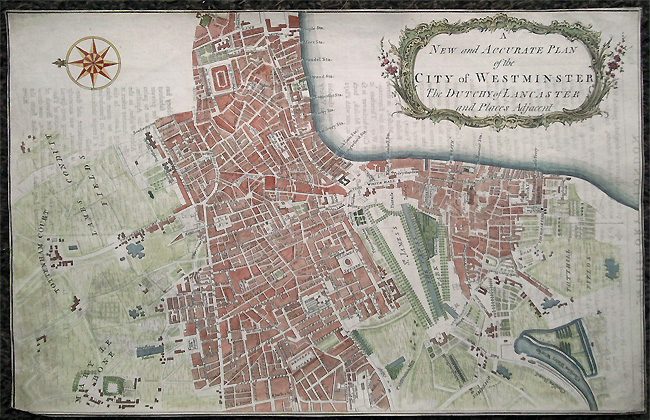 Antique Map of Westminster London