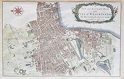 City of Westminster antique map
