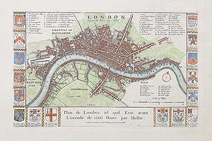 antique map of London by Wilkinson