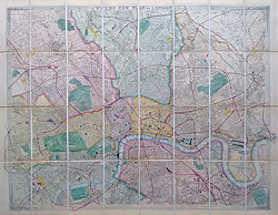 London antique street map by James Wyld for sale