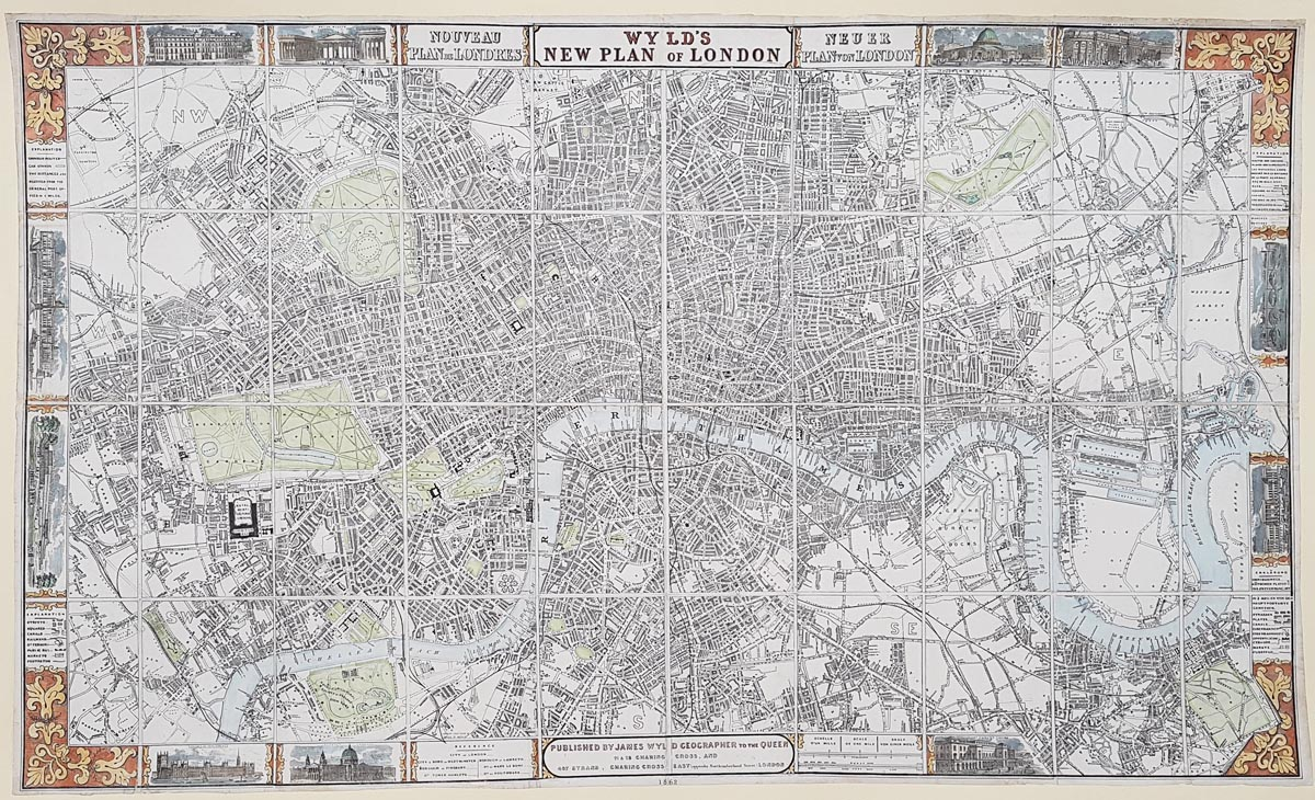 Antique Street map of London for sale