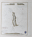 Lundy Island old sea chart