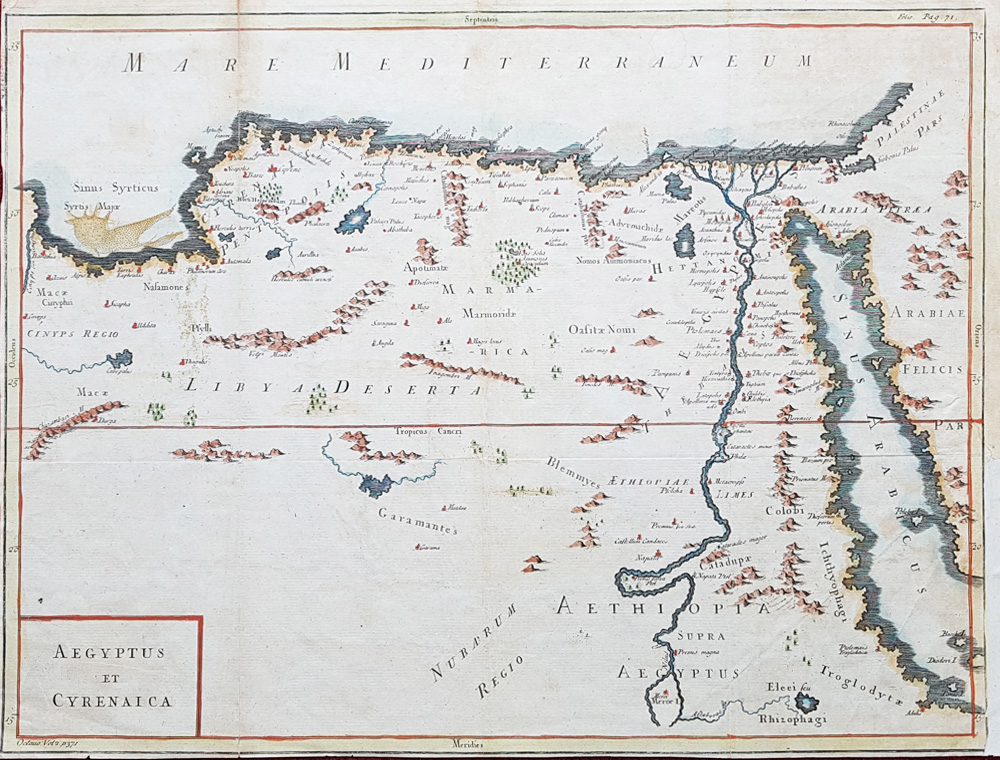 18th Century map of Lybia and Egypt for sale