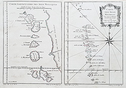 Maldives and Maluka Islands antique map