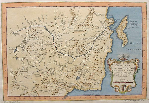 18th century Map of Manchuria by Bellin