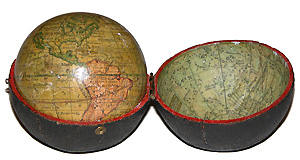 Antique globe by Moll