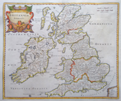 Roman Britain map by Morden