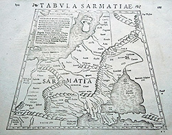 Antique map of Ukraine by Munster for sale