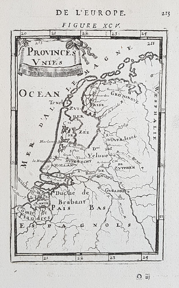 17th century map of Provinces Unies for sale - alain-manesson-mallet