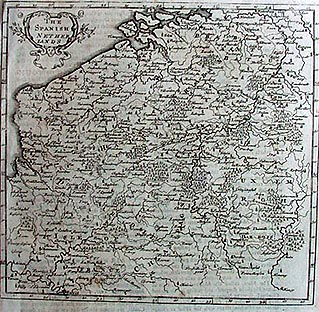 Antique map of the Spanish Netherlands