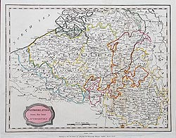 Belgium antique map for sale