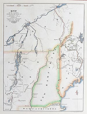 New York, New Hampshire and Maine Military map