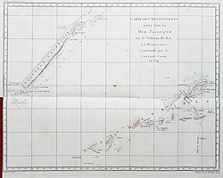 New Hebrides Islands antique chart for sale
