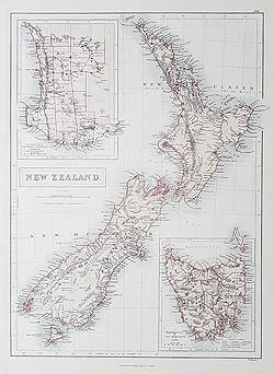 antique maps of New Zealand for sale