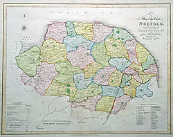Duncan county map of Norfolk for sale