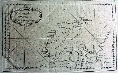 Antique Sea chart of North Russia