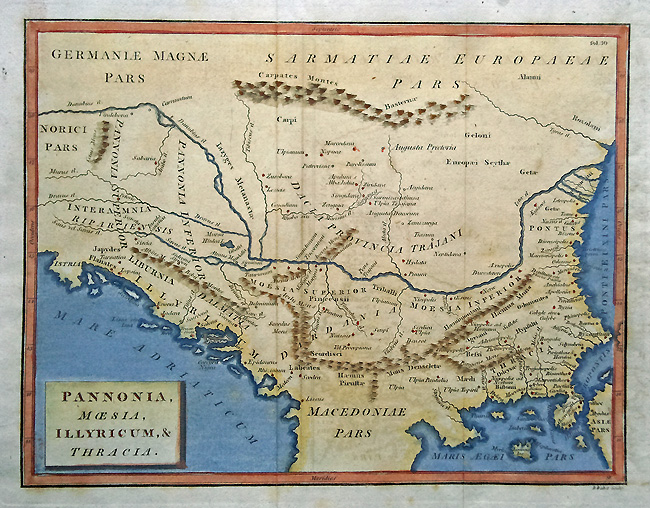 Antique Map of Northern Greece
