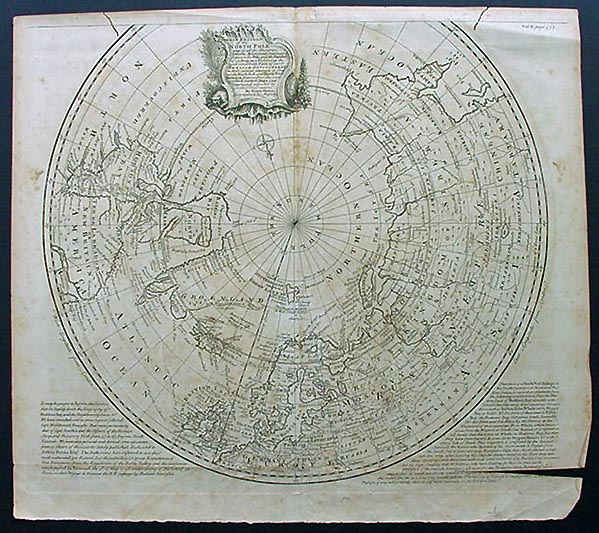Antique Map of the North Pole