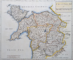 Nort Wales map by Morden
