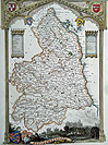 Northumberland antique map by Moule