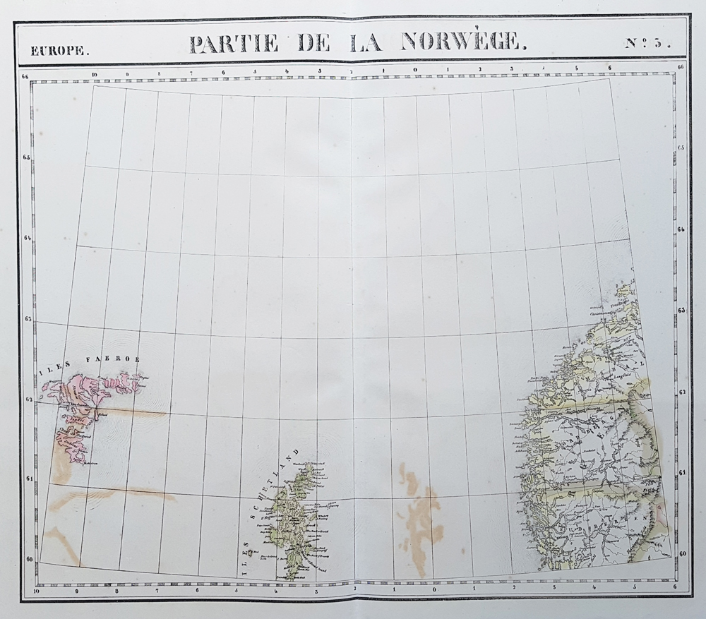 Norway, Shetland Isles and the Faroe Isles - 19th century map for sale