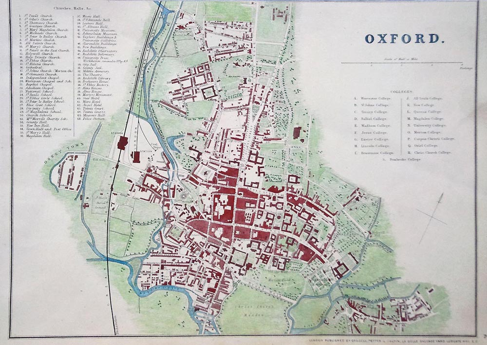 Oxford Antique City Map