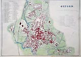 Oxford City Antique Map