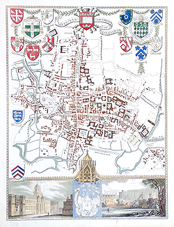 Oxford antique town plan for sale - Moule
