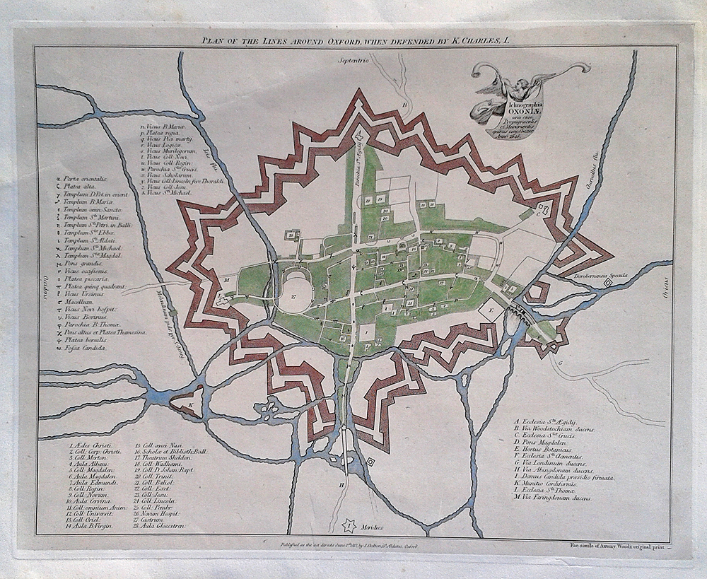 Plan of the Lines Around Oxford when Defended by Charles I