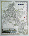 Oxfordshire antique map by Fullarton