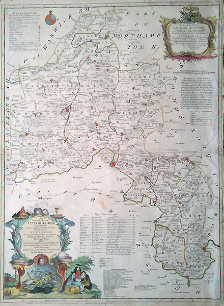 Oxfordshire 18th century map