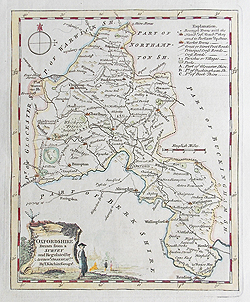 Oxfordshire antique map for sale by Thomas Kitchin circa 1765