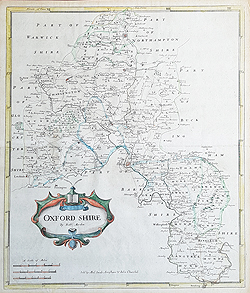 Oxfordshire 18th century map by Morden