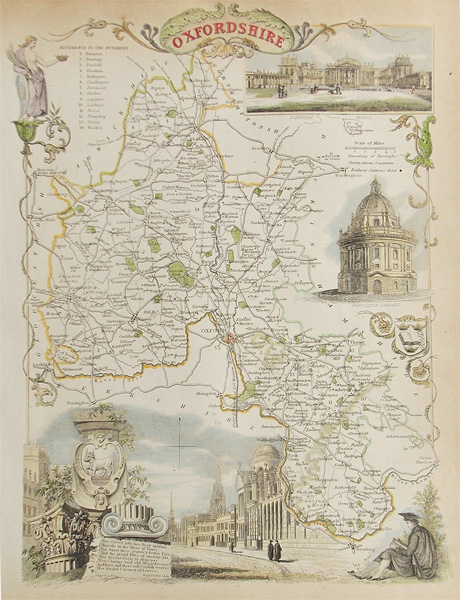 Old Oxfordshire Map by Moule