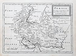 Antique map of Persia by Herman Moll for sale