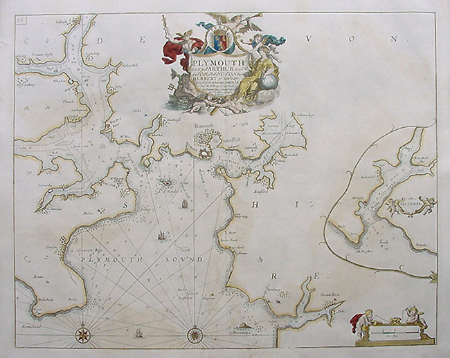 Plymouth Sea Chart - Greenville Collins