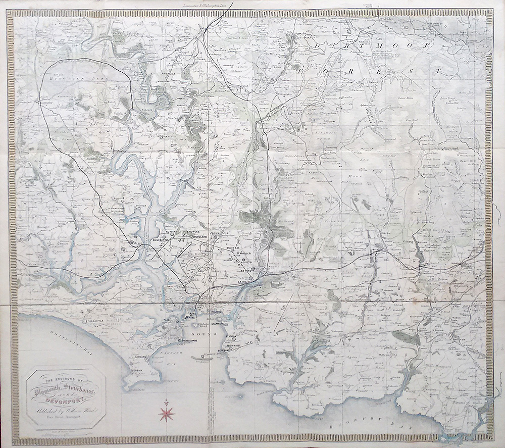 Plymouth and Devonport Victorian map for sale