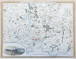 Antique Map of Plymouth by Thomas Moule for sale