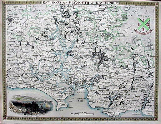Plymouth Moule Map 1850