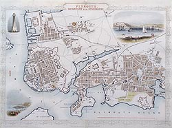 Plymouth by John Rapkin - city map for sale