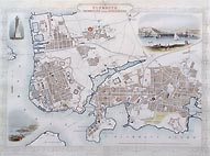Tallis Plymouth old city map