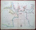 Plymouth Sound antique sea chart - nautical
